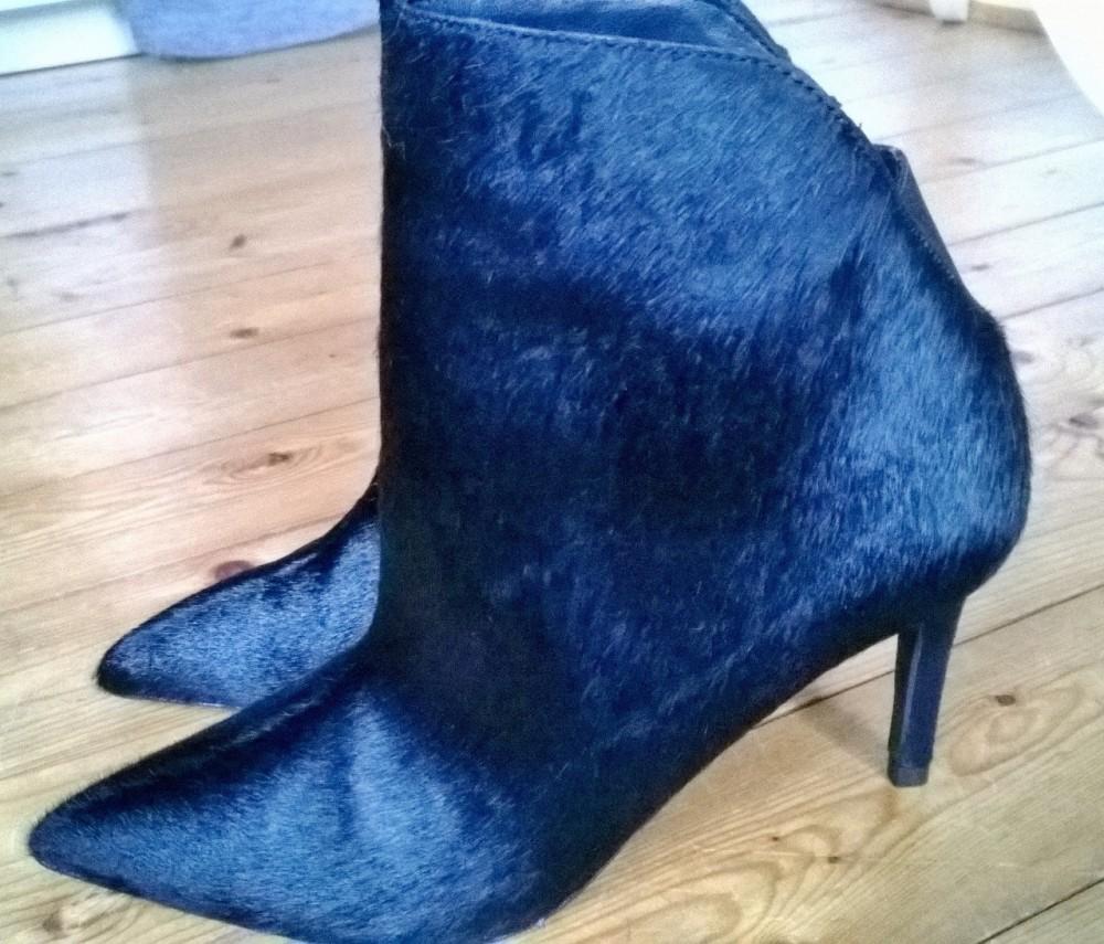 Zara Fake Fur Street Style Stiefeletten Fell