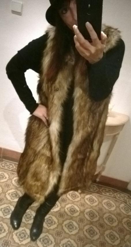 asos street style zara fake fur