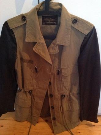 ZARA Jacke, Lederärmel, getragen, Größe S, Preis 50 EUR