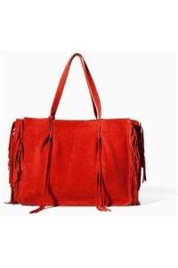 Damen-Shopper-Zara-Ledershopper-mit-fransen