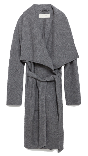 Zara mantel grau coat grey blogger